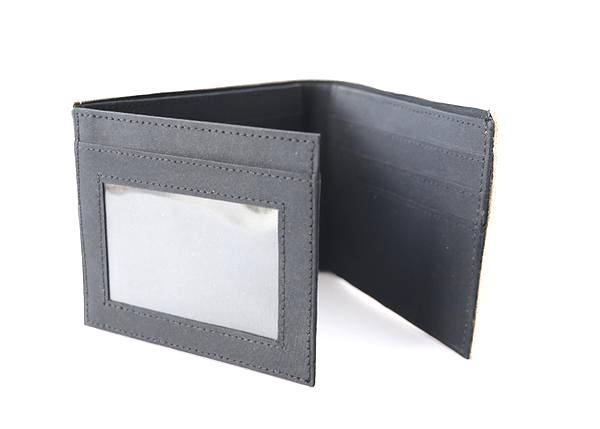 Black Flapover Wallet