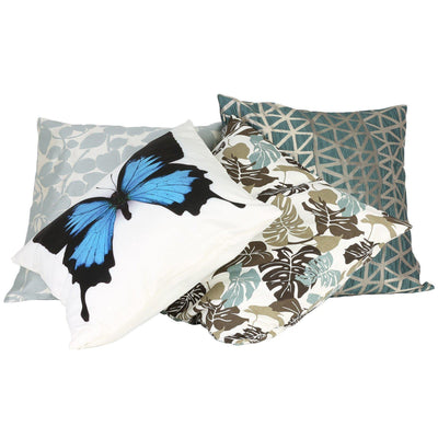 Blue Butterfly Cushion Cover-ML Living-Temples and Markets