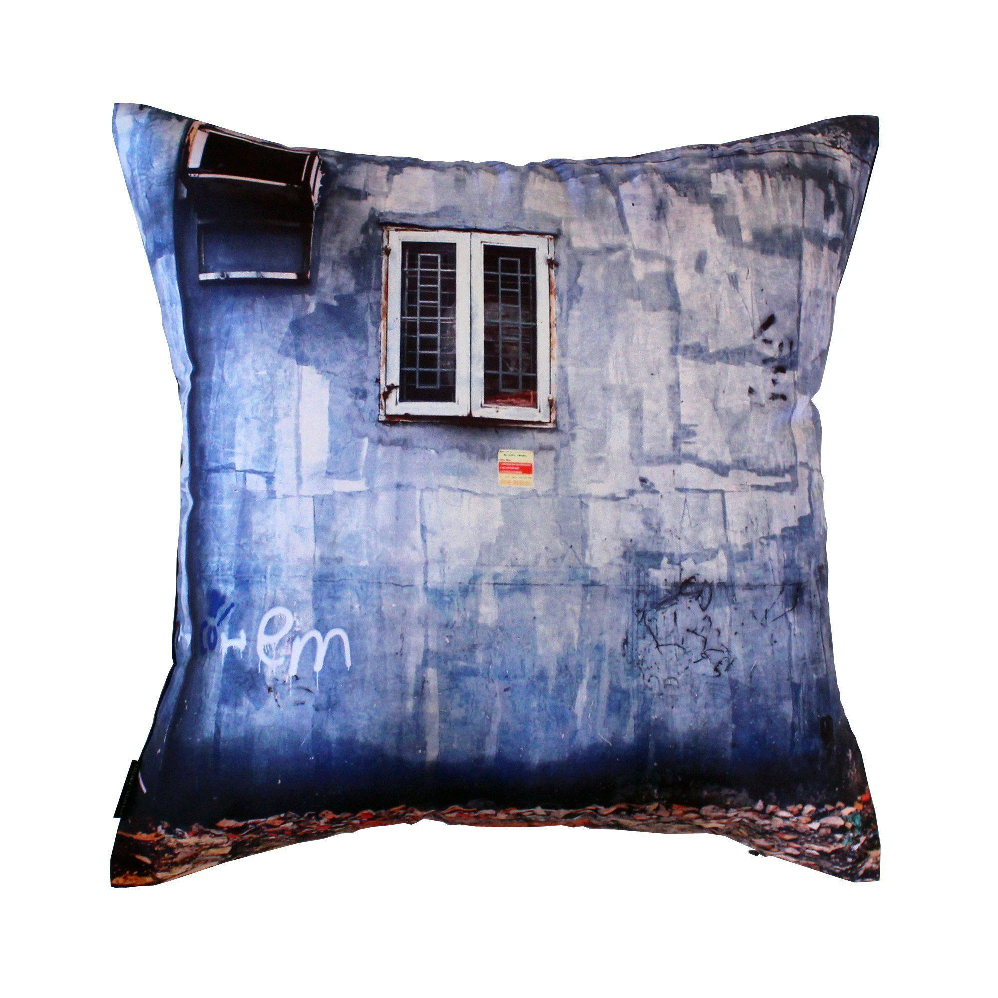 Blue Wall Cushion Cover-CUSHnART-Temples and Markets