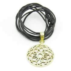 Brass Flower Net Pendant-Angkor Bullet Jewellery Cambodia-Temples and Markets