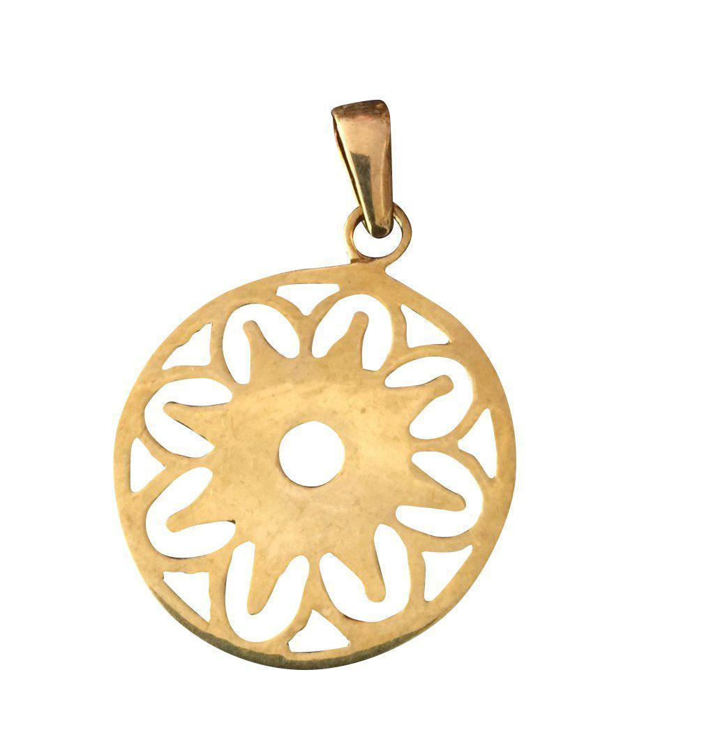 Brass Flower of Angkor Pendant-Angkor Bullet Jewellery Cambodia-Temples and Markets