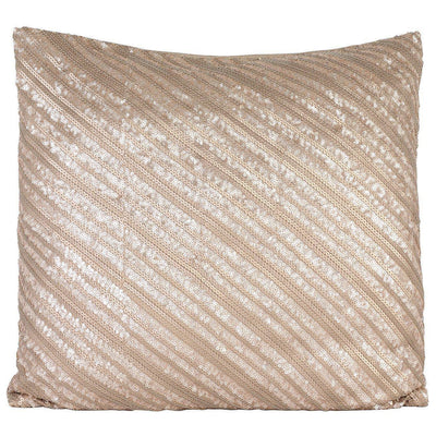 Bronze Diagonal Lines Sequinned Cushion Cover-ML Living-Temples and Markets