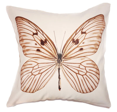 Brown Butterfly Cushion Cover-ML Living-Temples and Markets