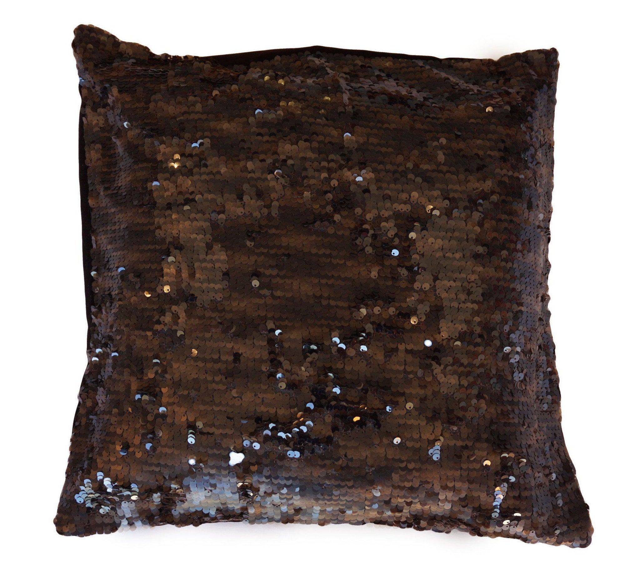 Brown Sequinned Cushion Cover-ML Living-Temples and Markets