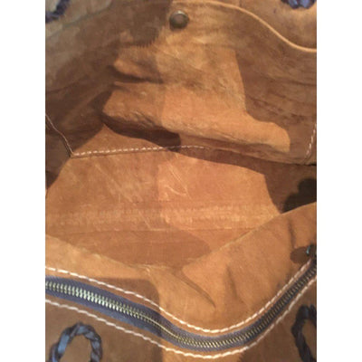 Cowhide Tote Bag - Tan-B and P Leather-Temples and Markets