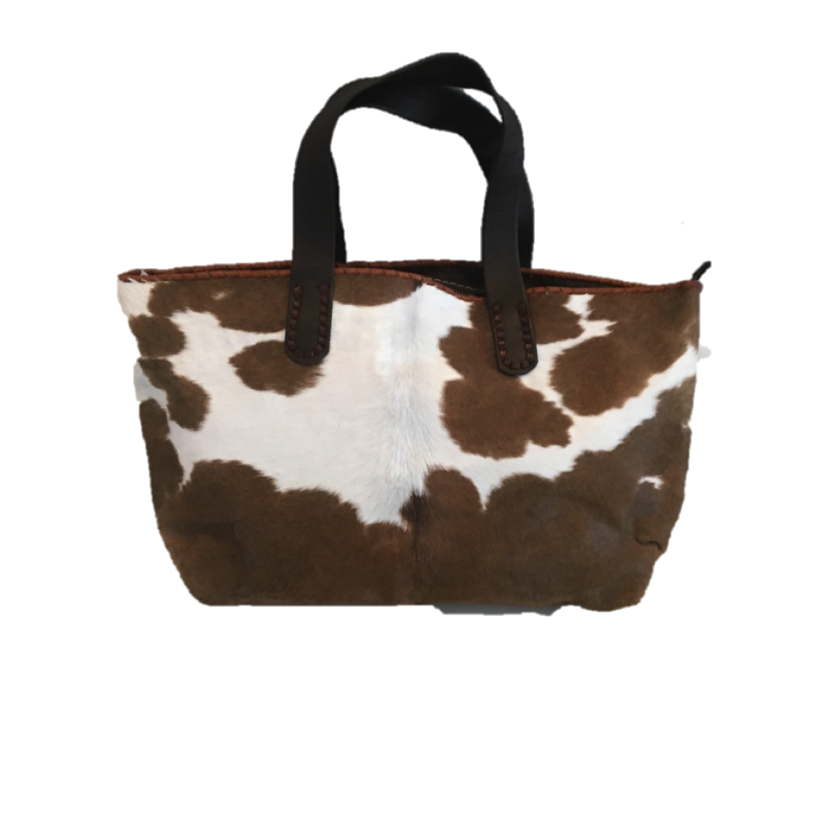 Cowhide Tote Bag - Tan
