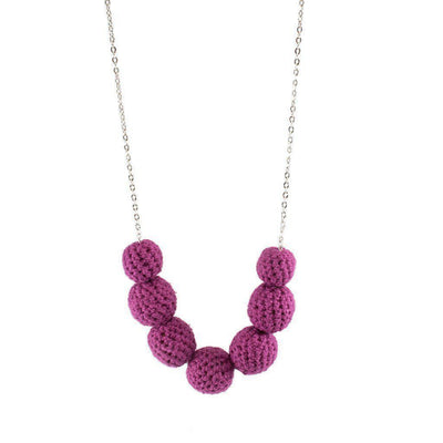 Crochet Candy Necklace on Chain-Khmer Creations-Temples and Markets