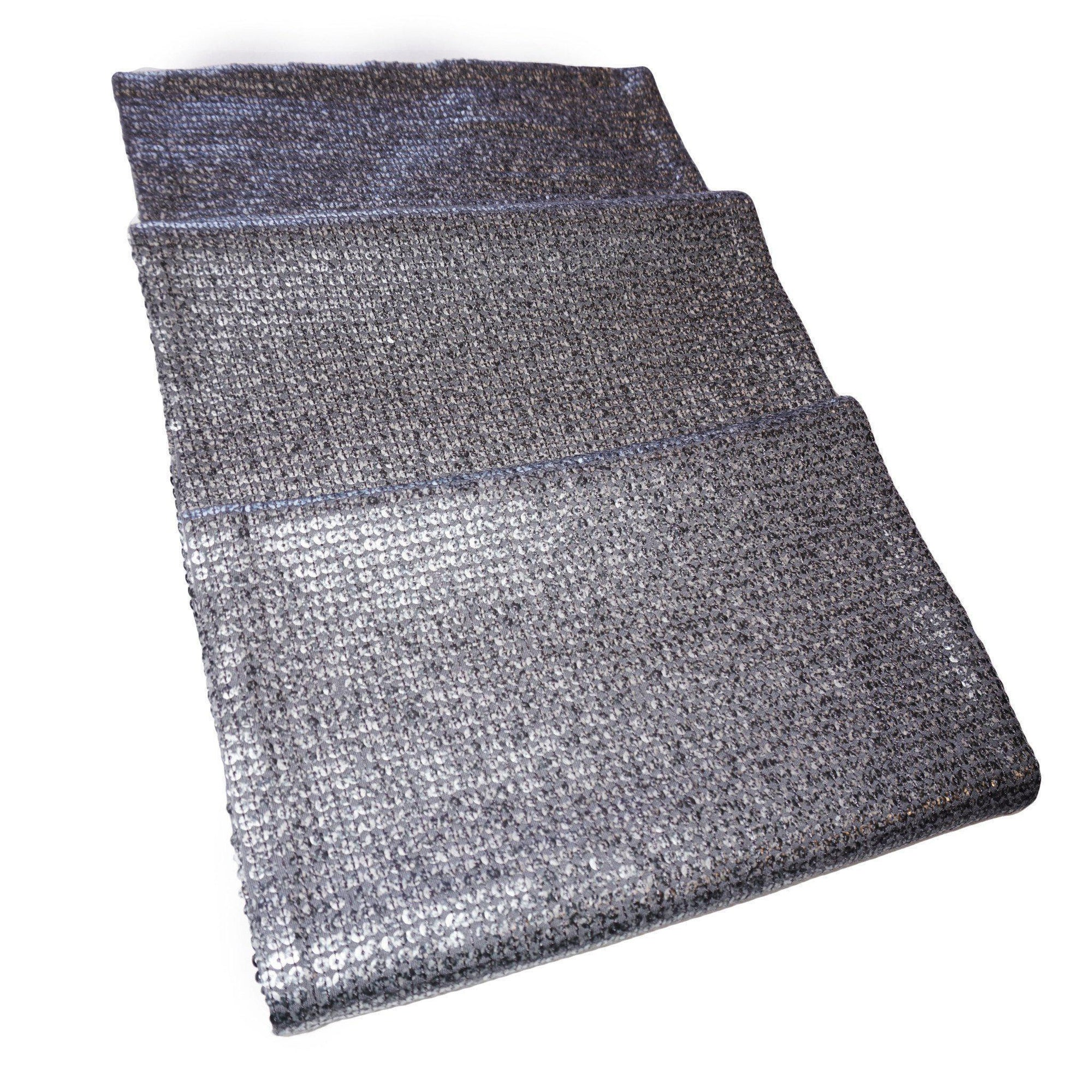 Dark Grey Metallic Bed Runner-ML Living-Temples and Markets