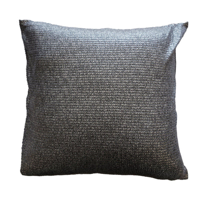 Dark Grey Metallic Look Cushion Cover-ML Living-Temples and Markets