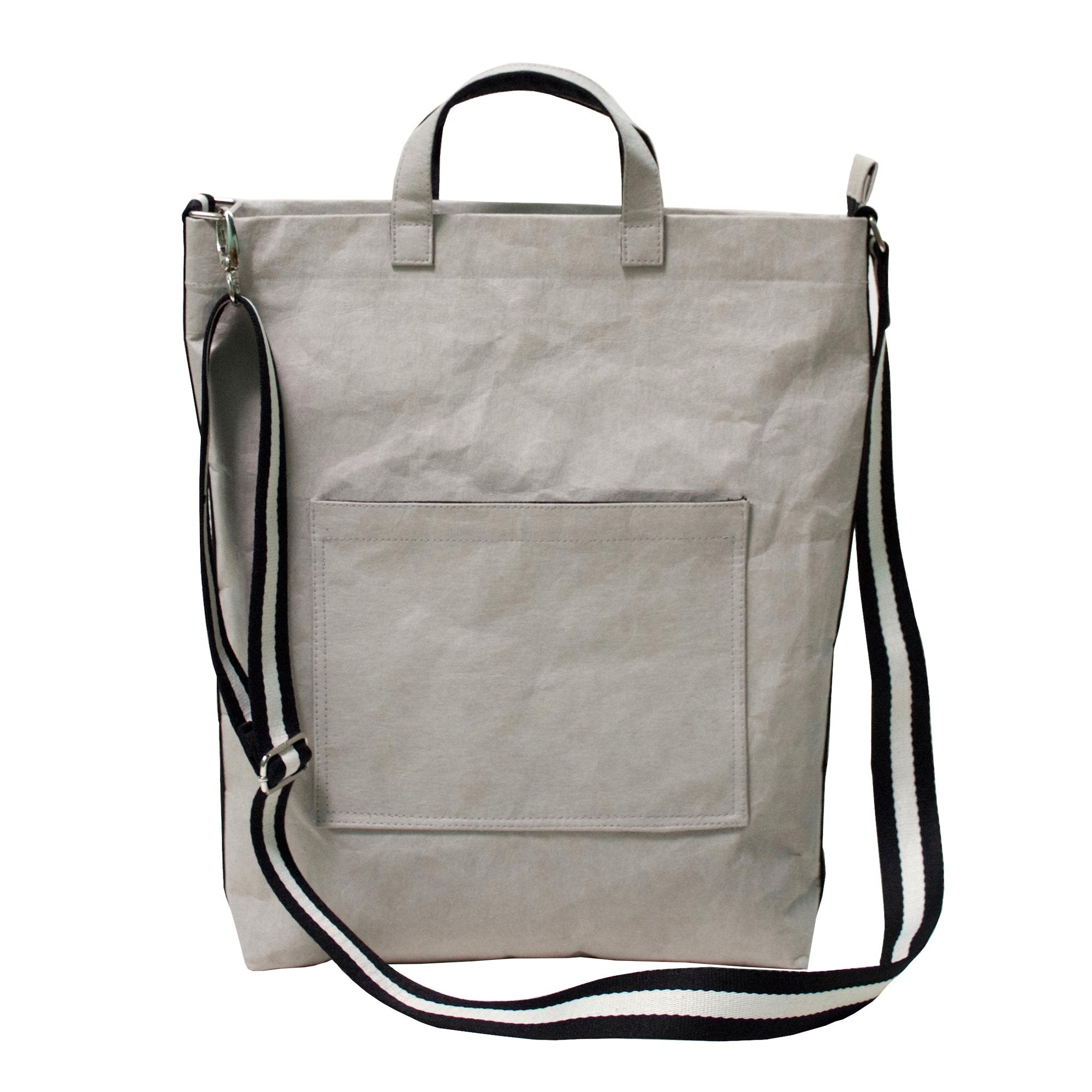 Demeter Grey Shoulder or Cross Body Bag made from Washable Paper-Kaban-Temples and Markets