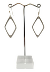 Diamond Shaped Shaped Sterling Silver Hook Earrings-LOVEbomb-Temples and Markets