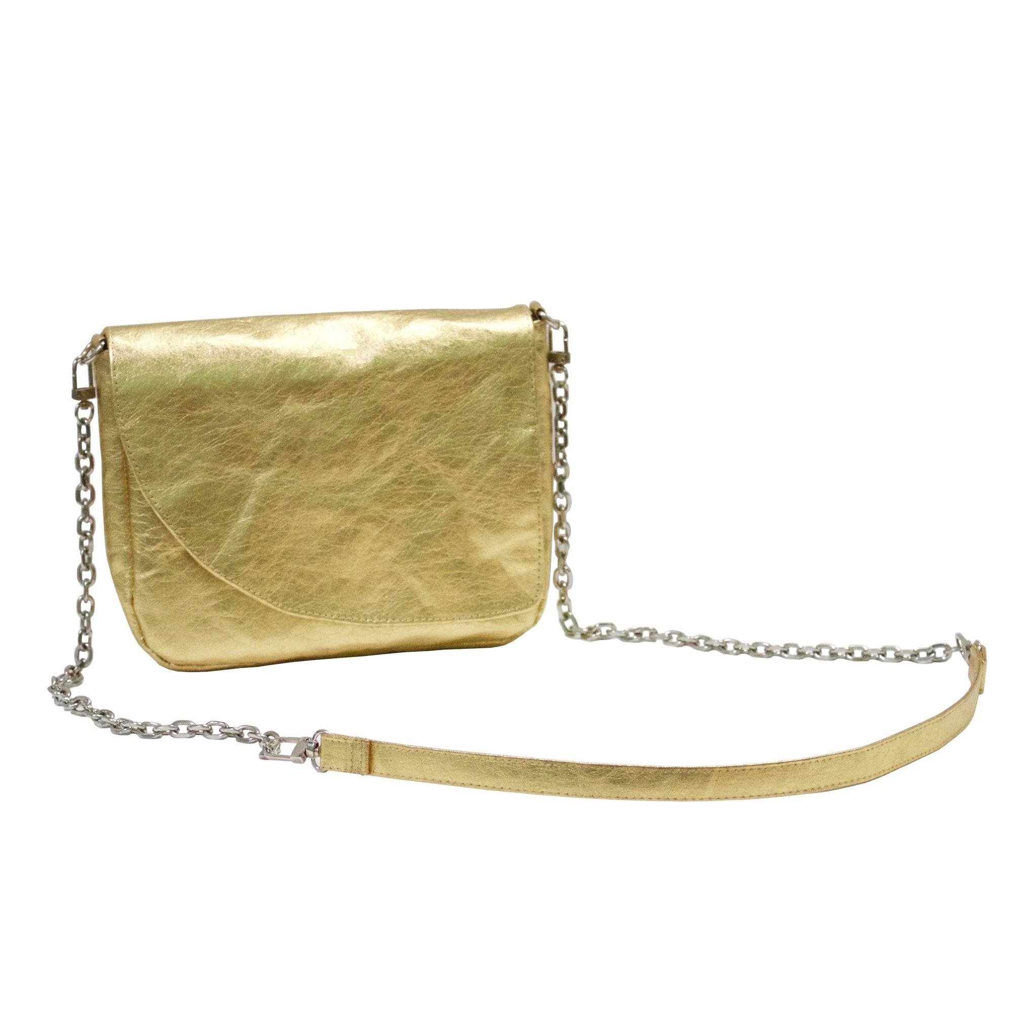 Electra Metallic Evening Clutch Bag made from Washable Paper-Kaban-Temples and Markets