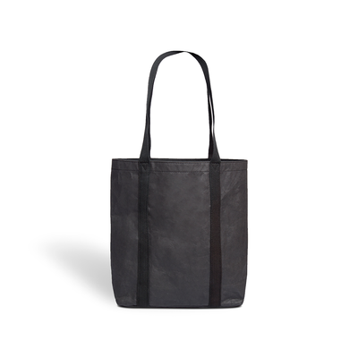 Ella Black Tote Bag made from Washable Paper, an eco-friendly alternative to leather-Pretty Simple Bags-Temples and Markets
