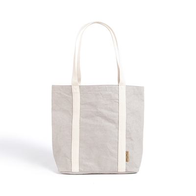 Ella Grey Tote Bag made from Washable Paper, an eco-friendly alternative to leather-Pretty Simple Bags-Temples and Markets