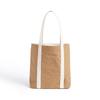 Ella Light Camel Tote Bag made from Washable Paper, an eco-friendly alternative to leather-Bags-Pretty Simple Bags-Temples and Markets