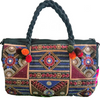 Embroidered Tribal Style Barrel Shaped Handbag-Bags-Malee Bags-Temples and Markets