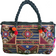 Embroidered Tribal Style Barrel Shaped Handbag