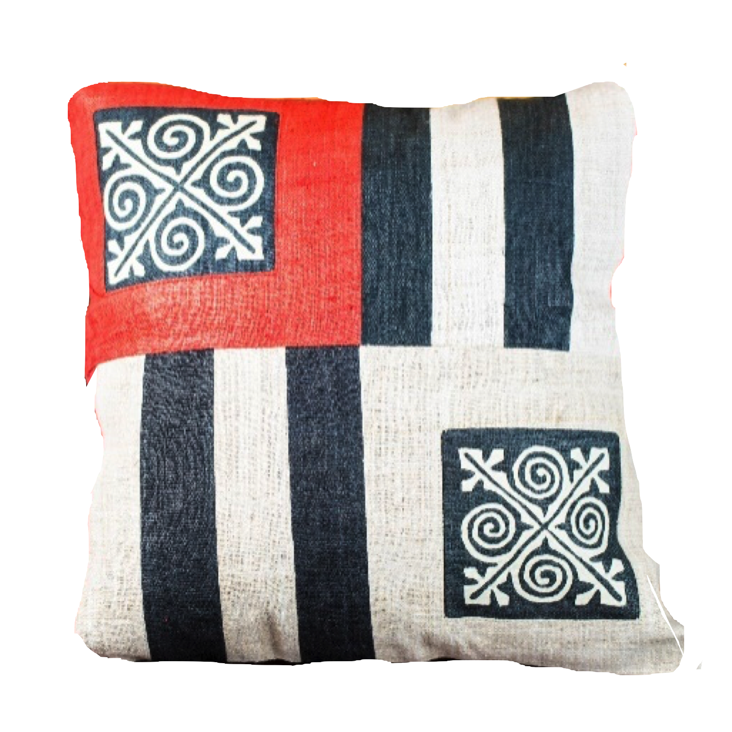 Ethnic Mix Striped Cushion Cover-Villagecraft Planet-Temples and Markets