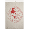 Eugenie Darge Linen and Red Portrait Tea Towel-Home Decor-EUGENIE DARGE-Temples and Markets