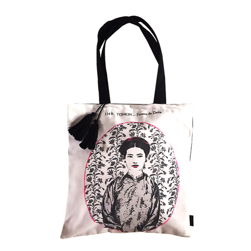 Eugenie Darge Miss Dung White Portrait Tote Bag