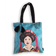 Eugenie Darge Miss Kim Turquoise Portrait Tote Bag