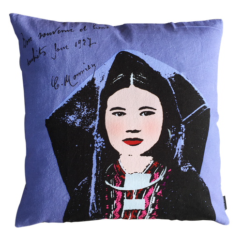 Eugenie Darge Miss Lam Portrait Cushion-EUGENIE DARGE-Temples and Markets