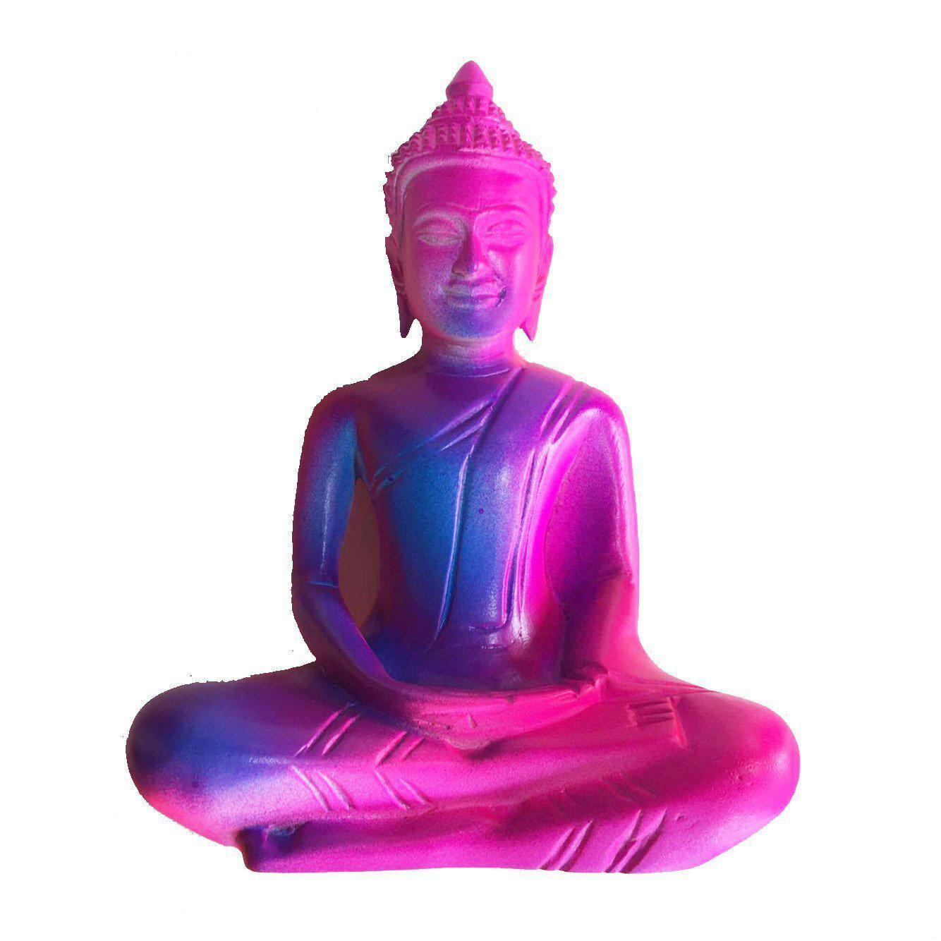 Fluro Mango Wood Seated Buddha in Meditation Pose