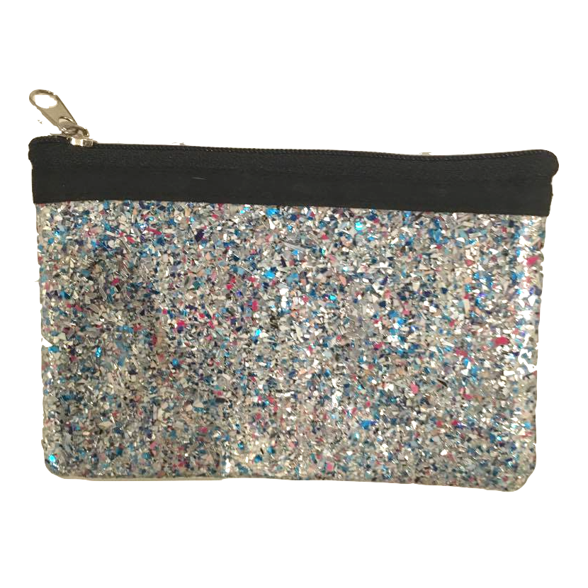 "Friends 'n' Stuff Blue Glitter Coin Purse-Friends ""N"" Stuff-Temples and Markets"