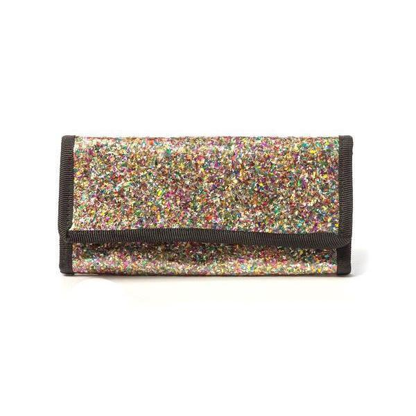 "Friends 'n' Stuff Women's Glitter Flap Over Wallet-Accessories-Friends ""N"" Stuff-Temples and Markets"