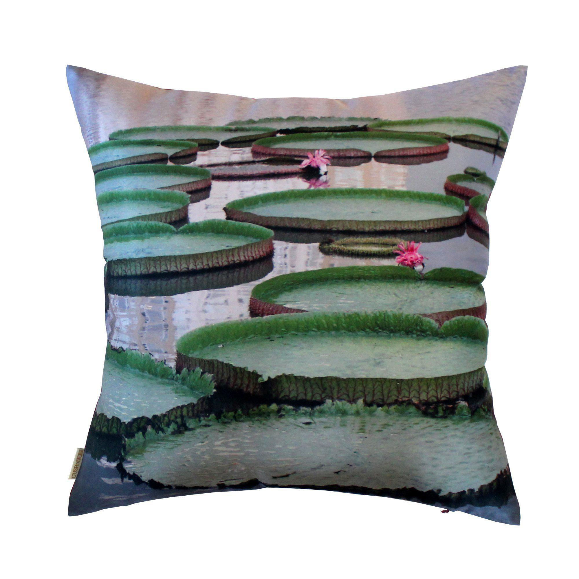 Giant Lily Pads Cushion Cover-CUSHnART-Temples and Markets