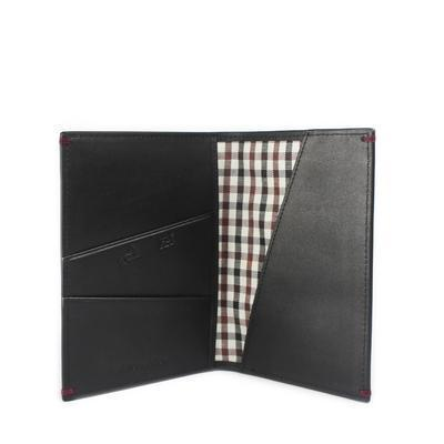 Gnome and Bow Cloak Black Leather Passport Holder-Gnome & Bow-Temples and Markets