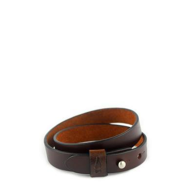 Gnome And Bow Double Twine Men's Mahogany Leather Bracelet