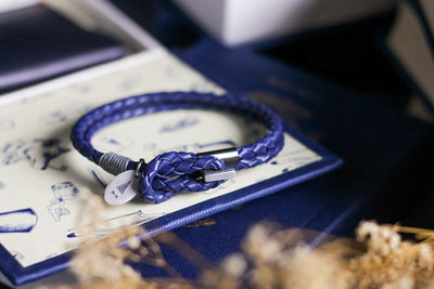 Gnome and Bow Smith Multi-Wrap Blue Leather Bracelet-Gnome & Bow-Temples and Markets
