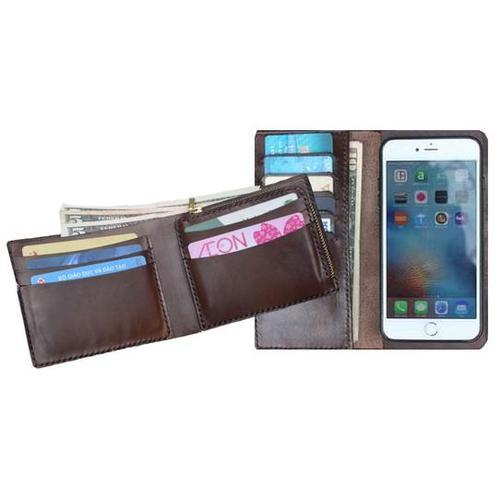 Handmade Leather Wallet and IPhone Case Set - the Perfect Gift for Him
