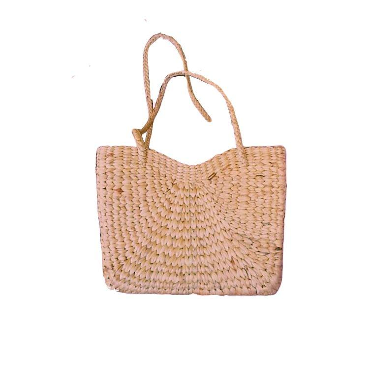 Handwoven Heart Shaped Basket Shoulder Bag