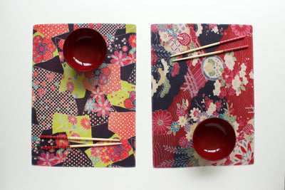 Kimono Water Resistant Placemats - Set of 6-CUSHnART-Temples and Markets
