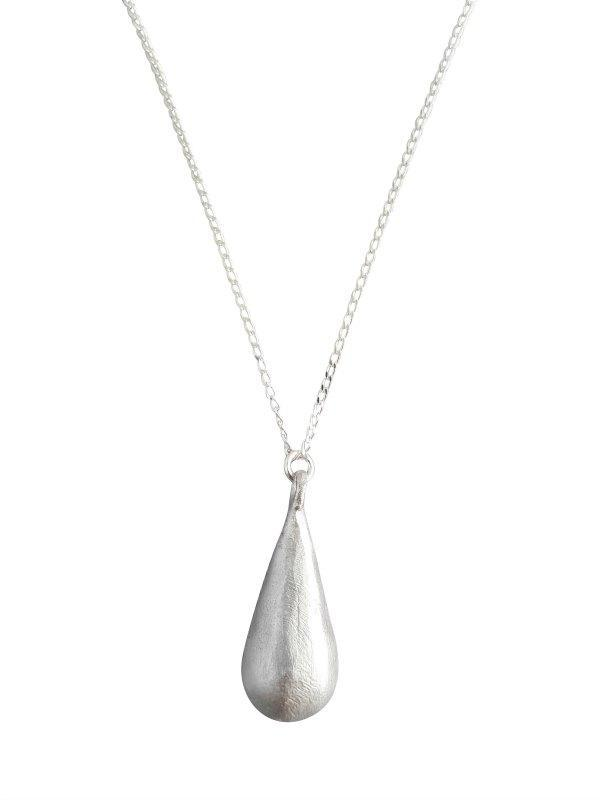 Large Teardrop Pendant on Sterling Silver Chain-LOVEbomb-Temples and Markets
