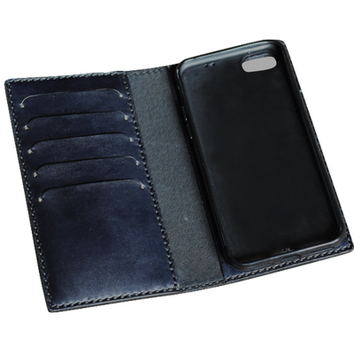 Leather iPhone Flip Case - choose IP7, IP8, IPX and choose your colour-Lotussilk Leather Accessories-Temples and Markets