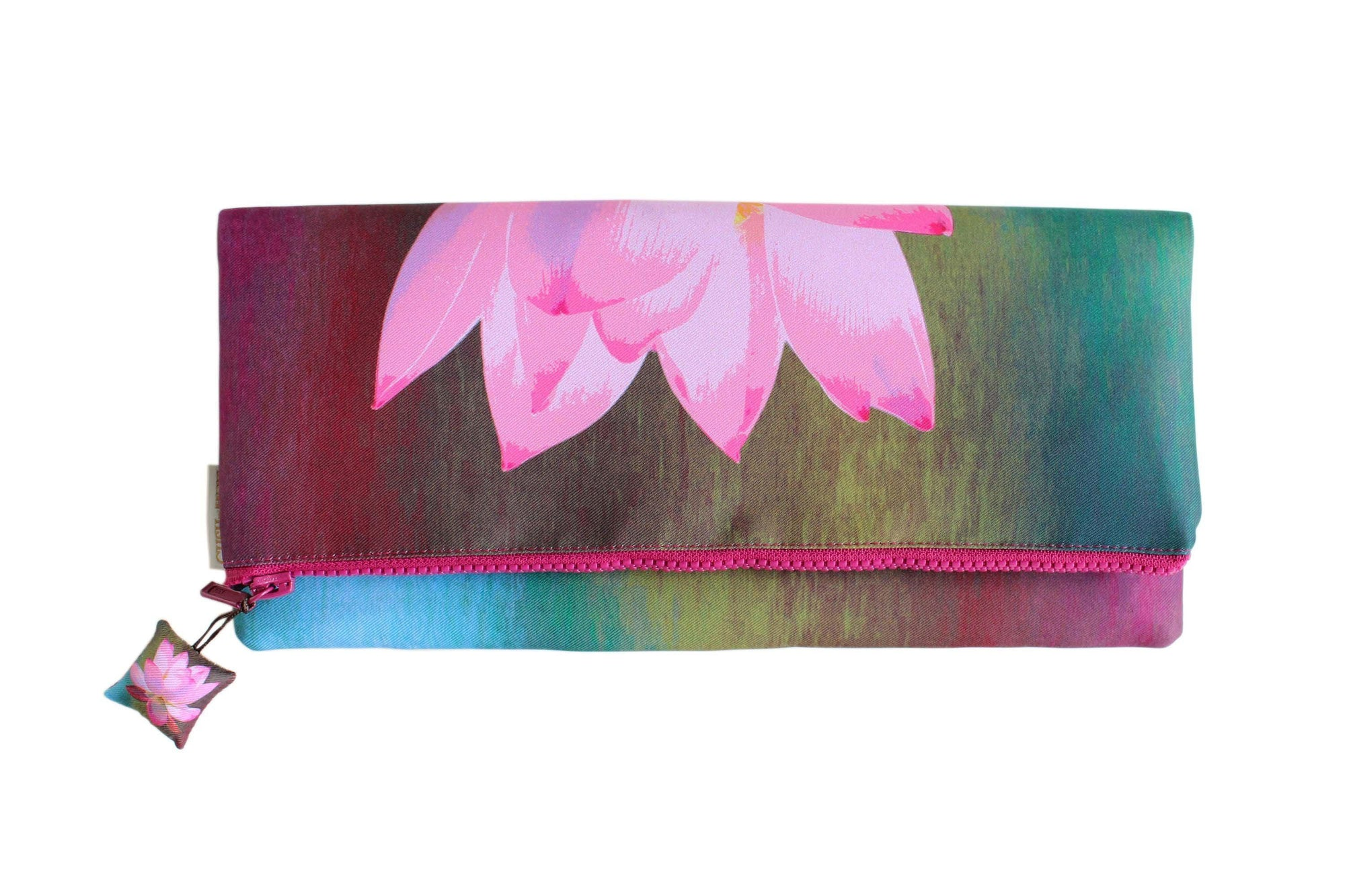 Lotus de Luxe Evening Clutch Bag-CUSHnART-Temples and Markets