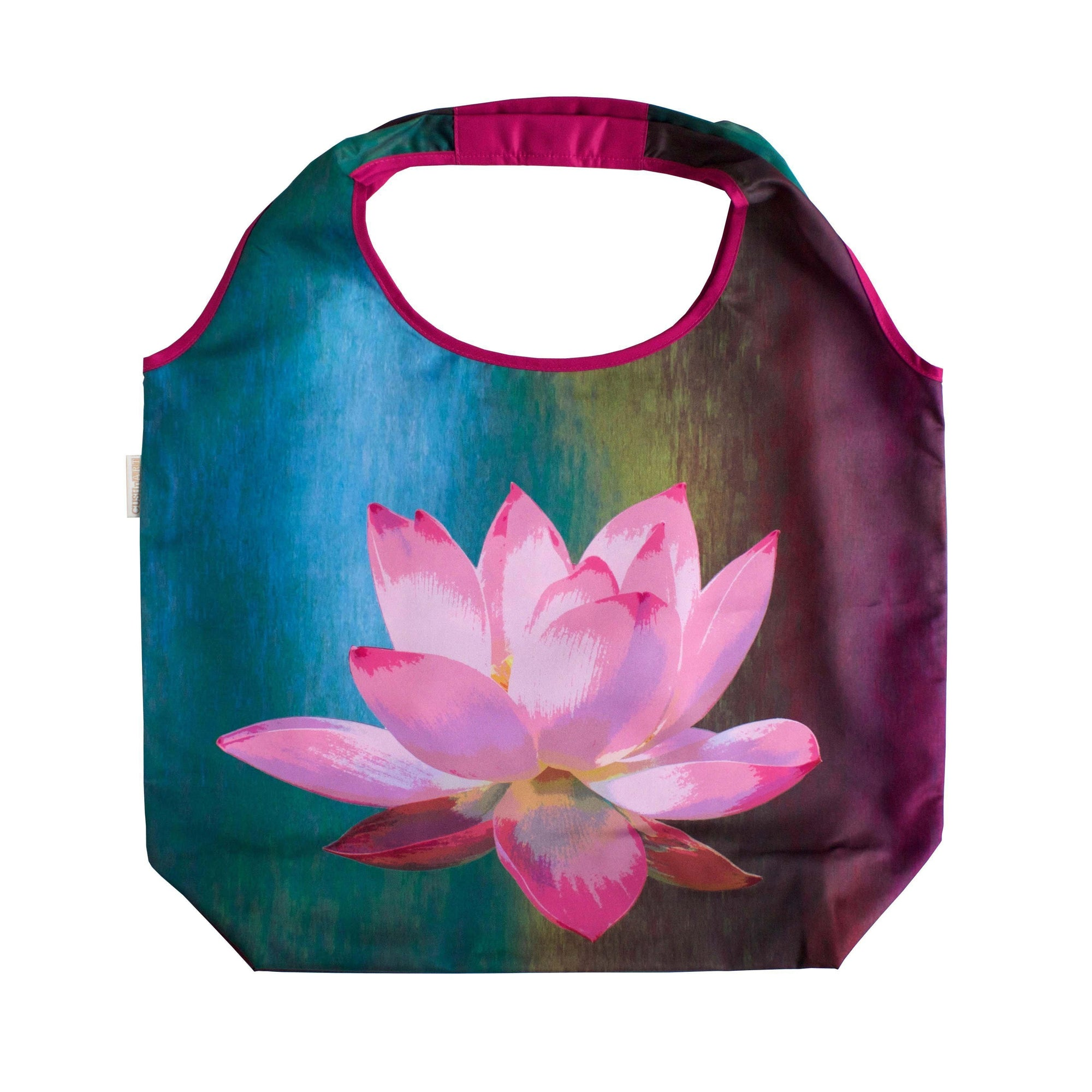 Lotus de Luxe Foldable Tote Bag-CUSHnART-Temples and Markets