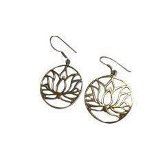Lotus Peace Drop Earrings-Angkor Bullet Jewellery Cambodia-Temples and Markets