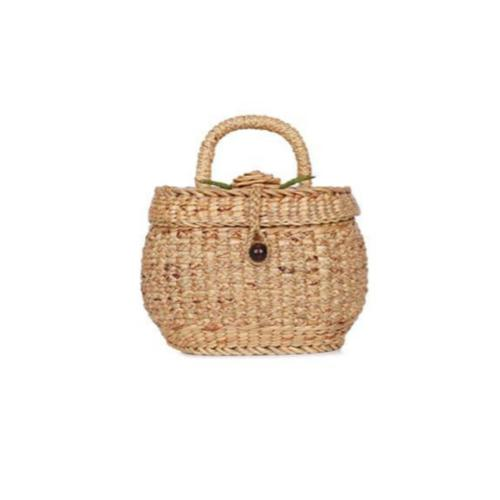 Maeploy Straw Basket Handbag-Bluestone-Temples and Markets