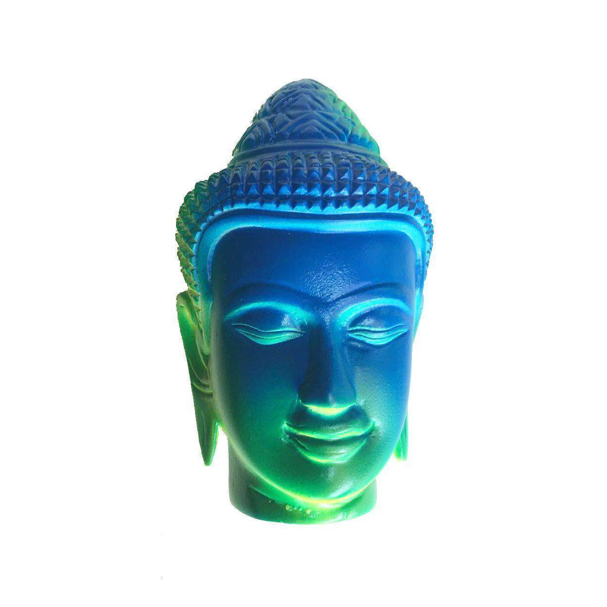 Mango Wood Fluoro Buddha Head