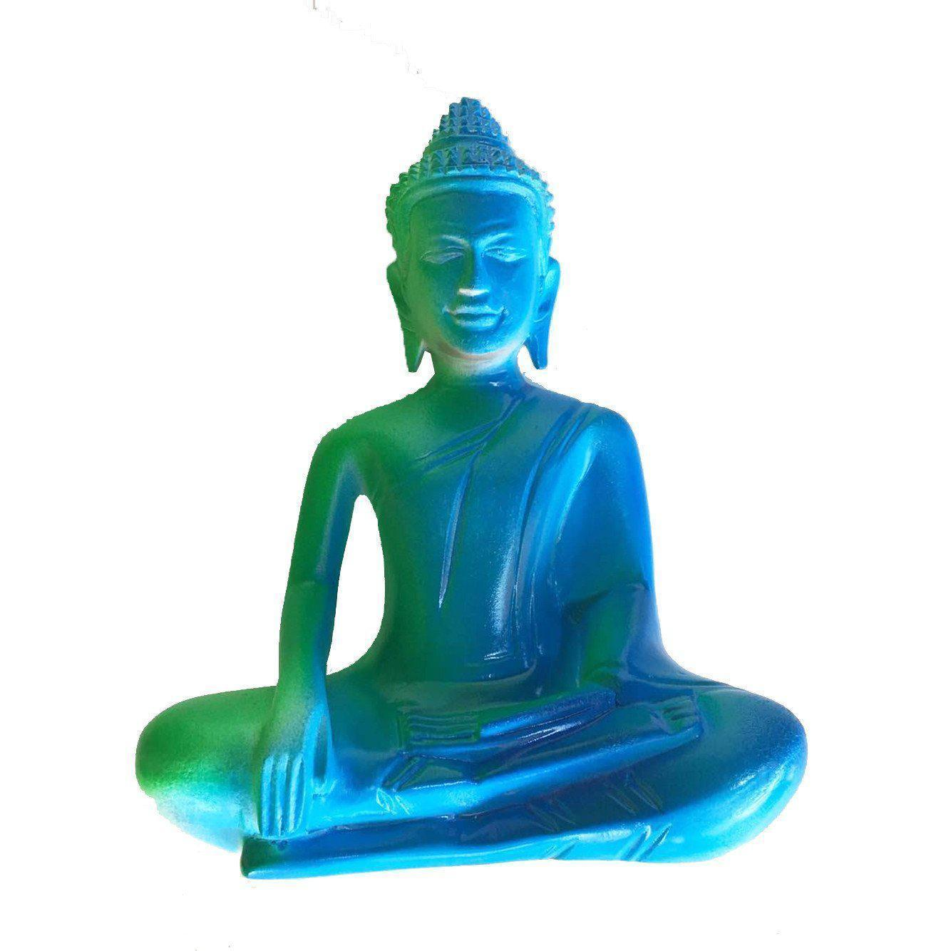 Mango Wood Fluro Seated Buddha in Earth Witness Pose-WA Gallery-Temples and Markets