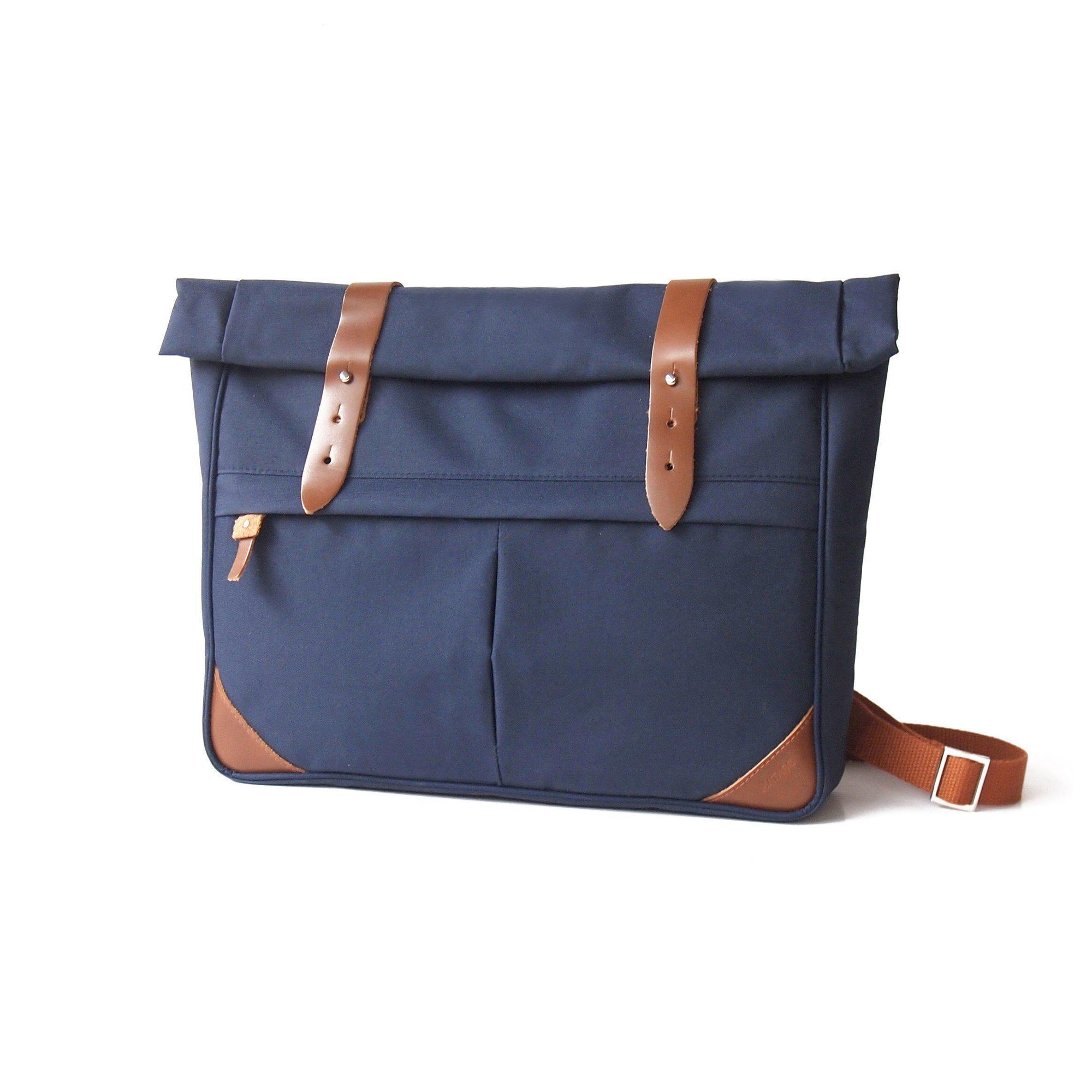 Mat Archer Merge Messenger Bag with Leather Detail-Mat Archer-Temples and Markets