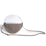 Maya Round Two Tone Cross Body Bag made from Washable Paper, an eco-friendly alternative to leather,-Pretty Simple Bags-Temples and Markets
