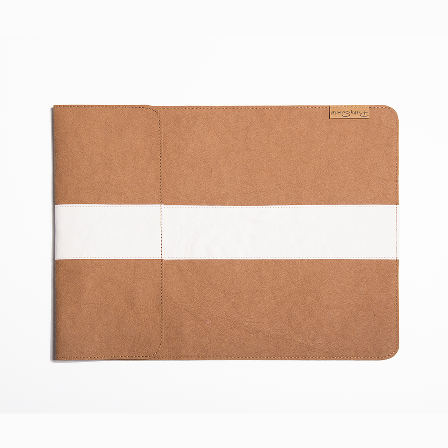 Maya Two Tone Laptop Sleeve made from Washable Paper, an eco-friendly alternative to leather-Bags-Pretty Simple Bags-Temples and Markets