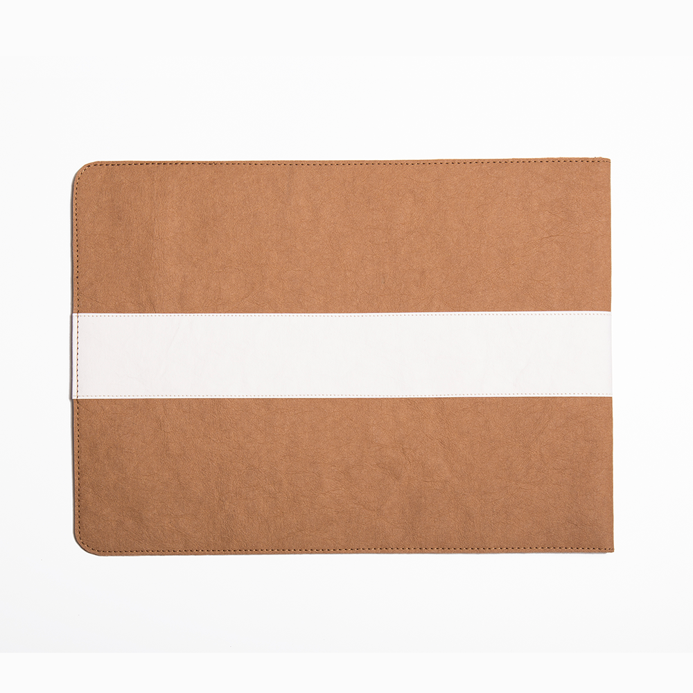 Maya Two Tone Laptop Sleeve made from Washable Paper, an eco-friendly alternative to leather-Pretty Simple Bags-Temples and Markets