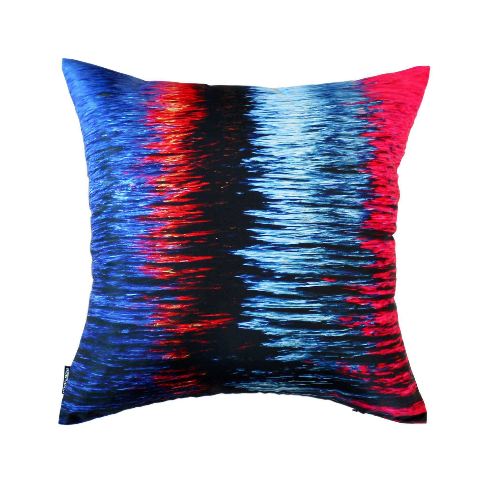 Multi-coloured Night River Cushion Cover-CUSHnART-Temples and Markets