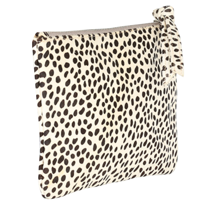 """Natru Exotic"" Animal Print Black and White Clutch Bag-Bua Creative-Temples and Markets"